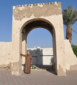Sam stands at the old entrance to Ummuna Hawwa (Eve's Cemetery).