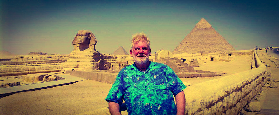 Sam Shropshire at the pyramids in Giza--one of the Seven Wonders of the Ancient World.