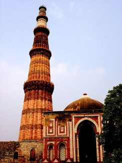 The Qutub Minor Mosque in New Delhi, India, has the world's  tallest brick minaret.