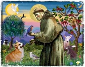 St Francis, the Patron Saint of Animals.