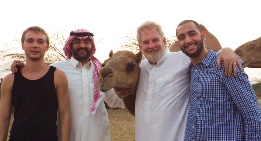 """Leila"" the camel gets special attention from Sam and friends outside Jeddah, Saudi Arabia."
