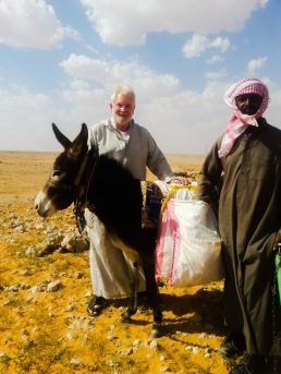 Sam with Bedouin herder near the location on his meteor find.