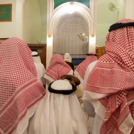 Friday jumah service at Tukwa Mosque in Jeddah, Saudi Arabia.
