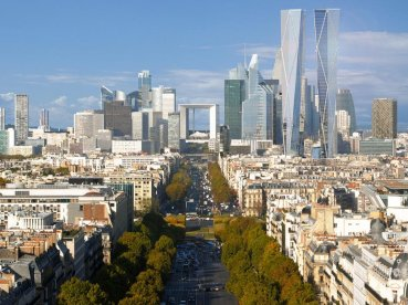 "Around its Grande Arche and esplanade (""le Parvis""), La Défense contains many of the Paris urban area's tallest high-rises."