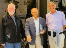 Sam with Dr. Sadig Malki and Bernard van Maele at the DMZ.