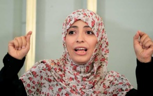 Yemini Nobel Peace Prize winner Tawakkol Karman championed the cause of peace and women's rights.