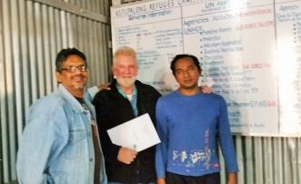 Dr. Rashid Malik, Sam and UNHCR Kutupalong camp director Mohammed Ishmael.