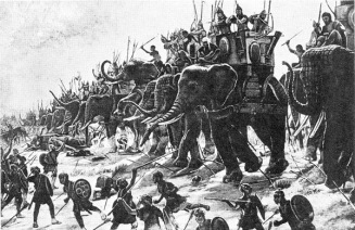 Alexander the Great's weakened forces were no match for the Subcontinents war elephants!