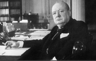 Sir Winston Churchill was a British prime minister and statesman who led the country to victory against Nazi Germany and the Axis powers in World War Two.