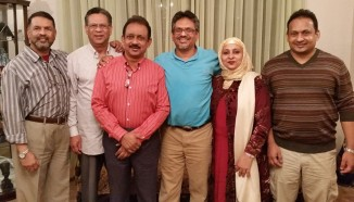 Dr Rashid Malik (center) with his brothers and sisters.