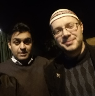 Mohammed Abbasi of Football for Peace with Paul Armstrong, director of Association of British Muslims.